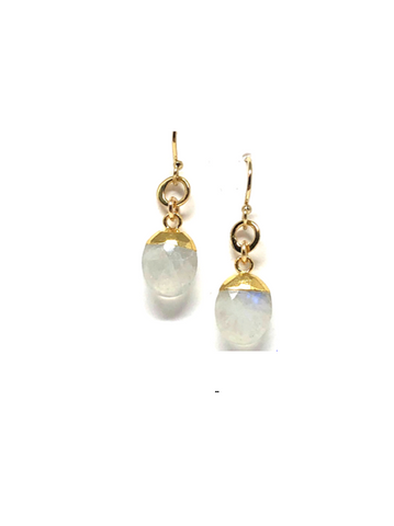 Lela Moonstone Oval Earrings