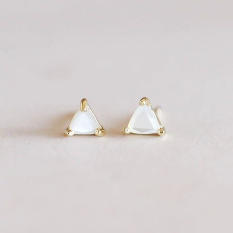 Mother of Pearl Mini Energy Earrings