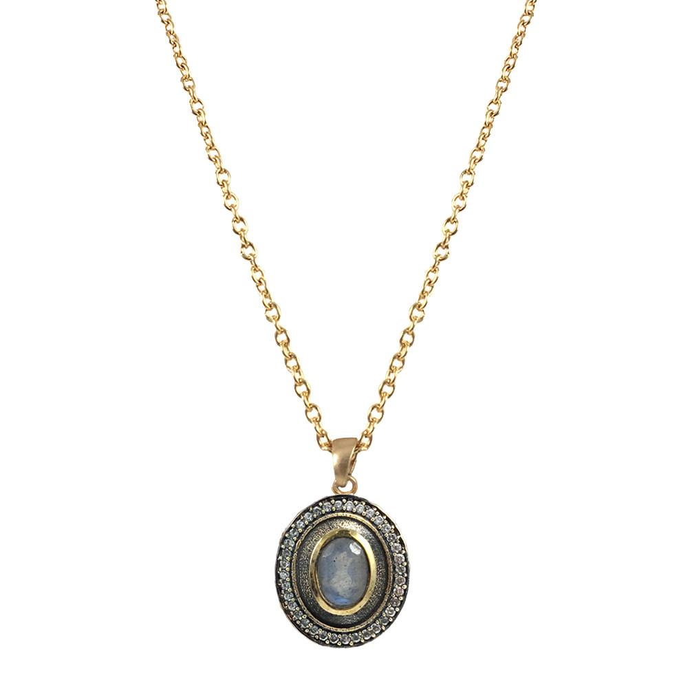 Talen Vintage Gold Labradorite Necklace