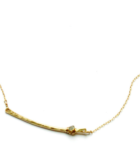 Pixie Stick Necklace In Gold