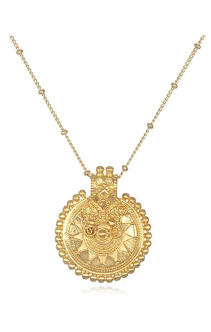 Gold Mandala Necklace