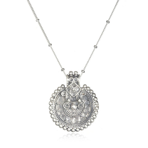 Silver Mandala Necklace
