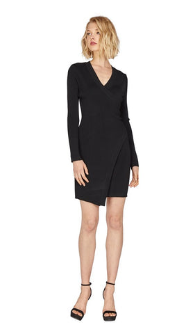 Sharine Faux Wrap Dress