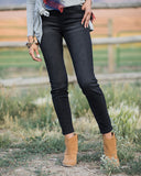 Classic Mid Rise Pull On Jegging In Black