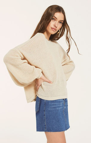 Elcee Cropped Sweater, Oatmeal