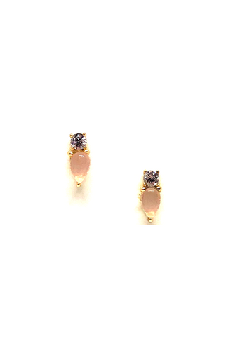 Elodie Rose Quartz Stud Earrings