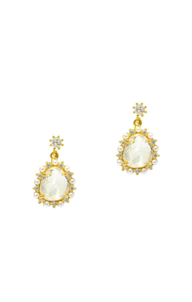 Tai Jewelry Clear Glass Drop Earrings