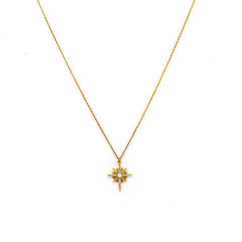 Tai Jewelry Opal Starburst Necklace