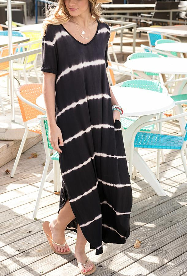 Perfect Pocket Tee Maxi Dress by Grace & Lace