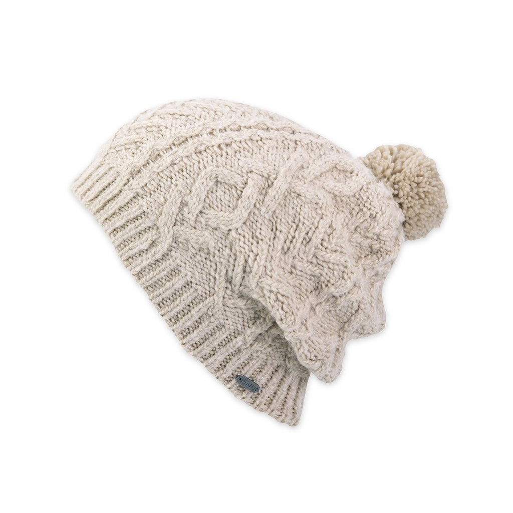 Mio Slouchy Beanie In Oatmeal
