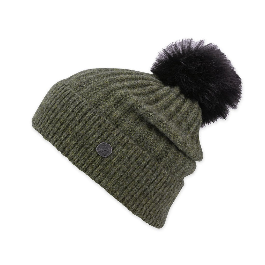Piper Slouchy Beanie In Olive