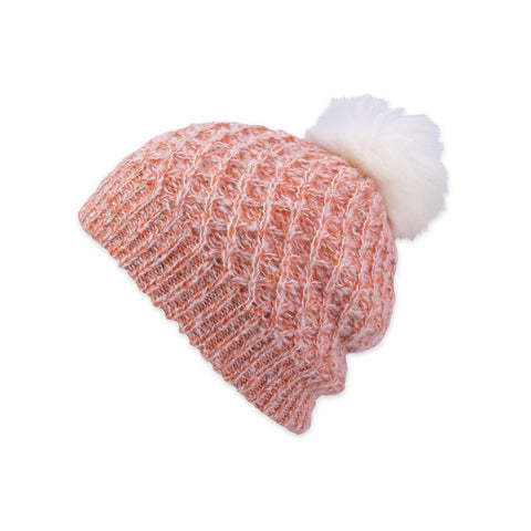 Subi Slouchy Beanie In Coral