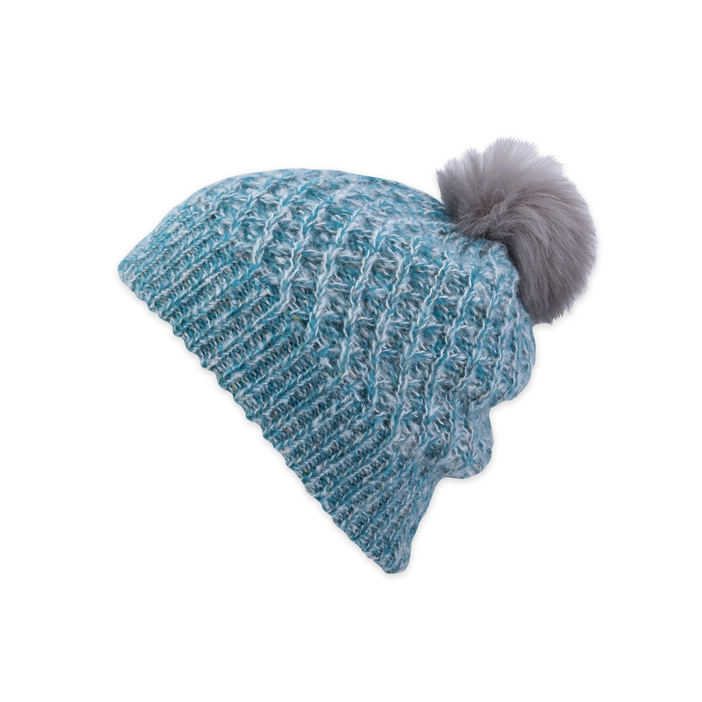 Subi Slouchy Beanie In Turquoise