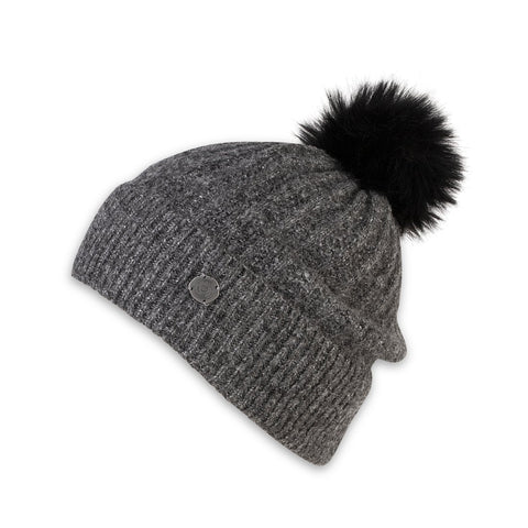 Piper Slouchy Beanie, Charcoal