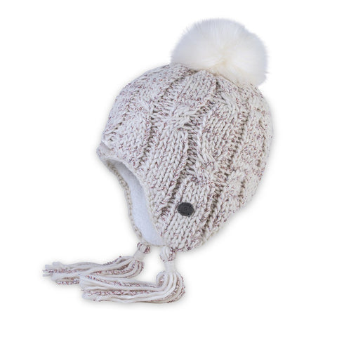 Snowbound Earflap Hat In Ivory