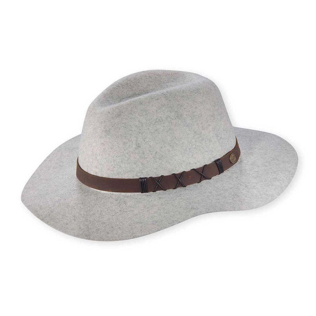 Soho Wide Brim Hat In Dove Grey