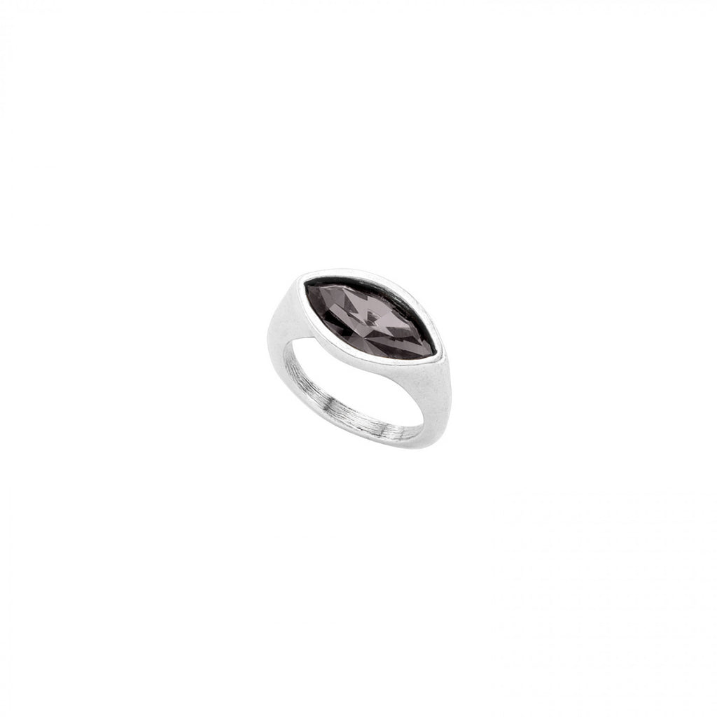Pop Eye Silver Ring with Swarovski Elements Crystal