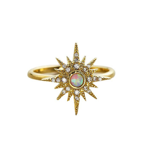 Opal Starburst Ring Tai Jewelry