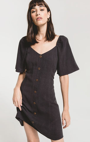 Alassio Dress in Washed Black
