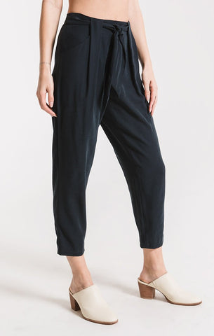 Utica Pleated Pants In Navy