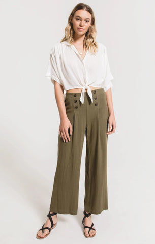 San Rocco Pants, Dusky Green