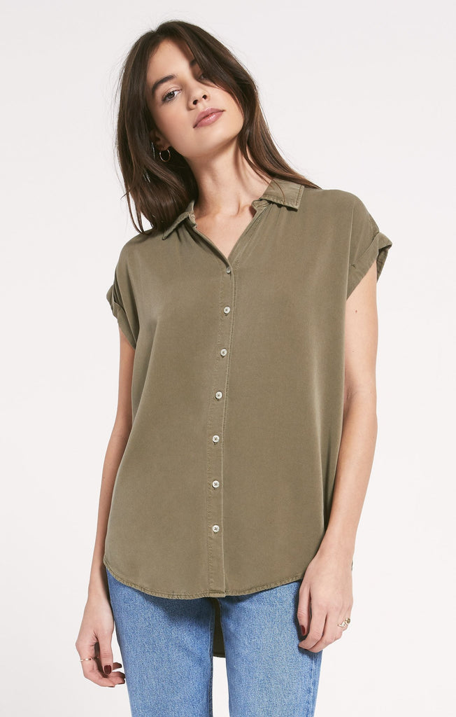 Rinella Top, Dusky Green