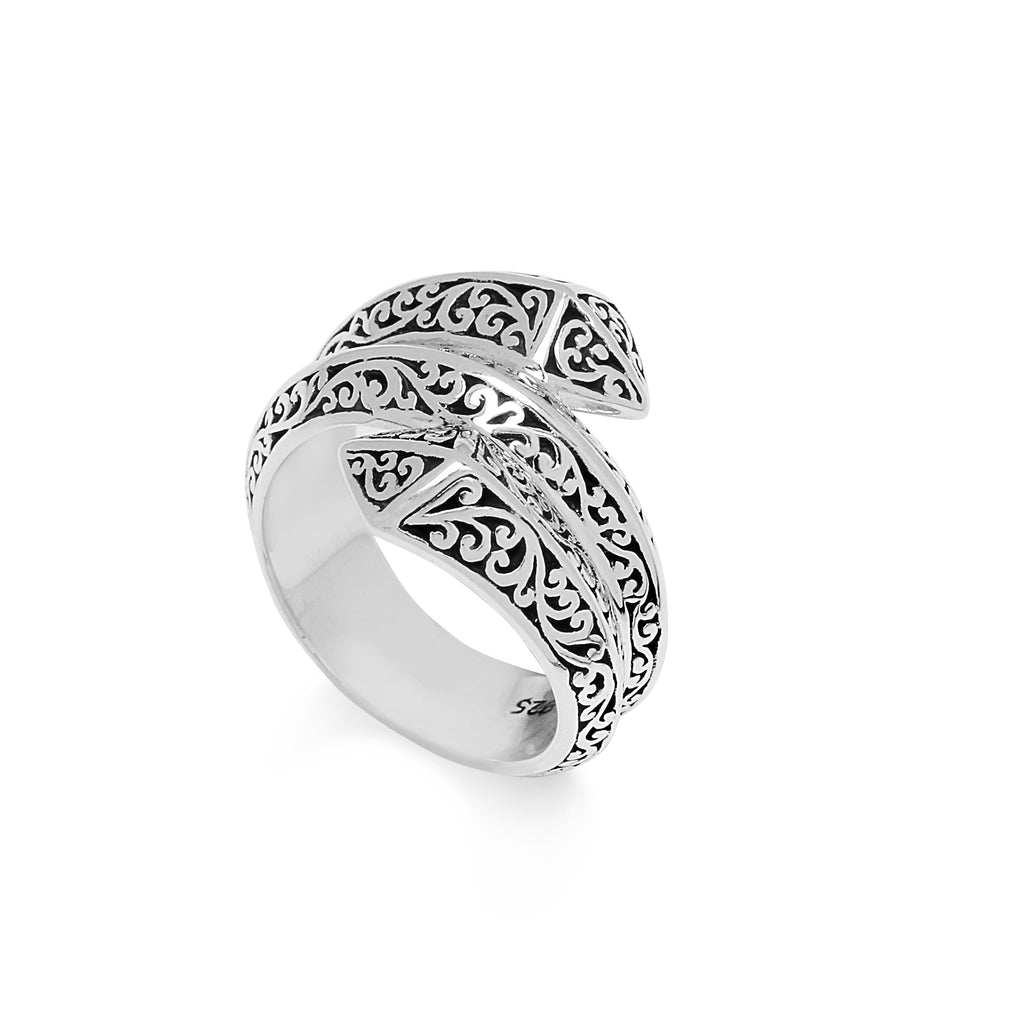 Lois Hill Scroll Wrap Around Ring