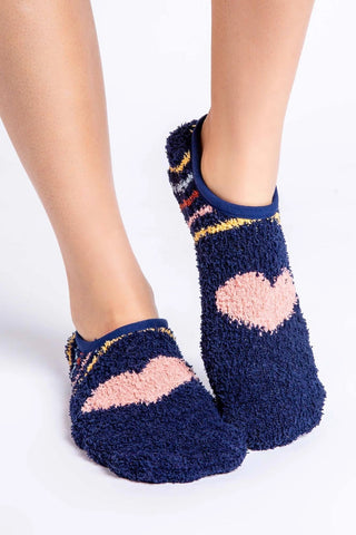 Cozy Toesies Slipper Socks, Navy