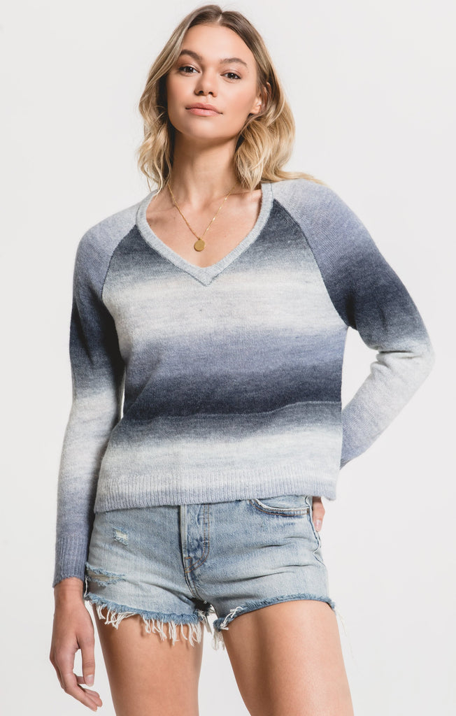 Capri Ombre Sweater in Black Iris