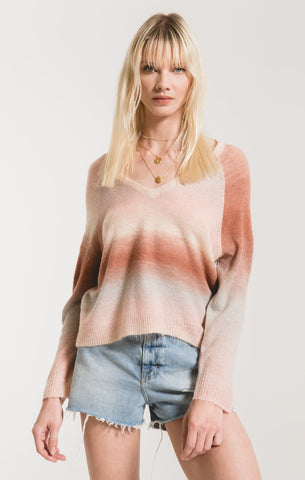 Capri Ombre Sweater in Powder Pink