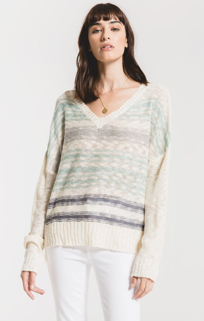 Amalfi Stripe Sweater in Blue Haze
