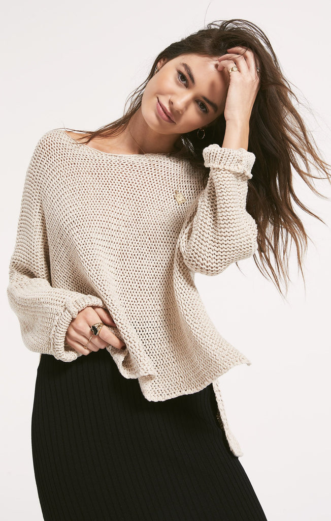 Fulton Sweater, Heather Oatmeal