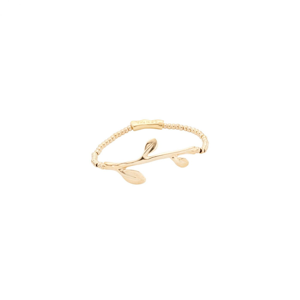 Run Forrest Leaf Motif Bracelet in Gold