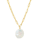 Freshwater Pearl Necklace, Gold