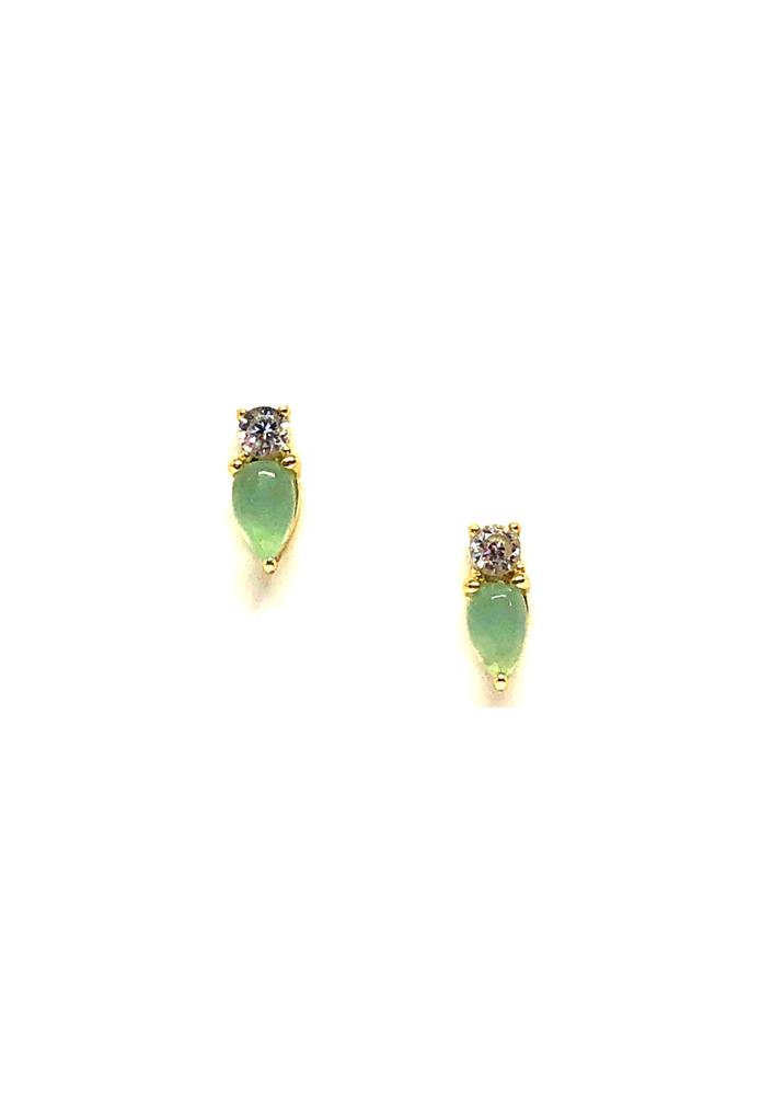 Elodie Chalcedony Stud Earrings