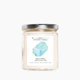 Back in stock! Sea Opal Crystal Candle – Meditation