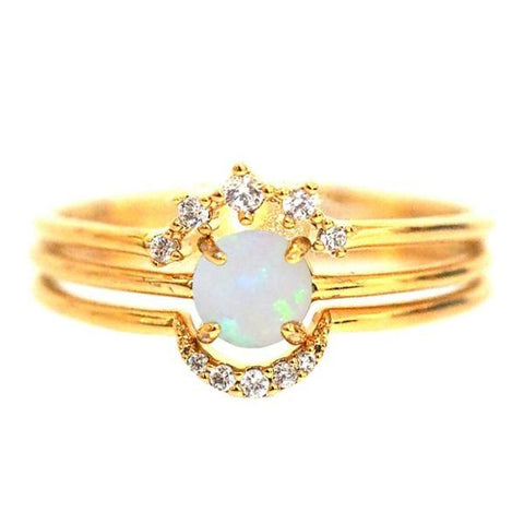Stackable Ring Set, Gold