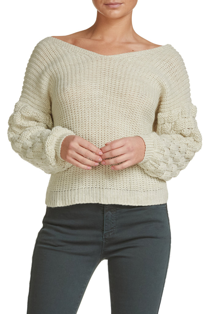 Elan International Ingrid Twist-Back Sweater