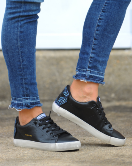 Stars Crystal Leather Sneaker