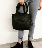 LAtico Dalton Leather Handbag In Black
