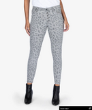 Connie High Rise Skinny in Grey Leopard