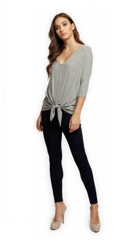 Diem V-Neck Side Tie Top