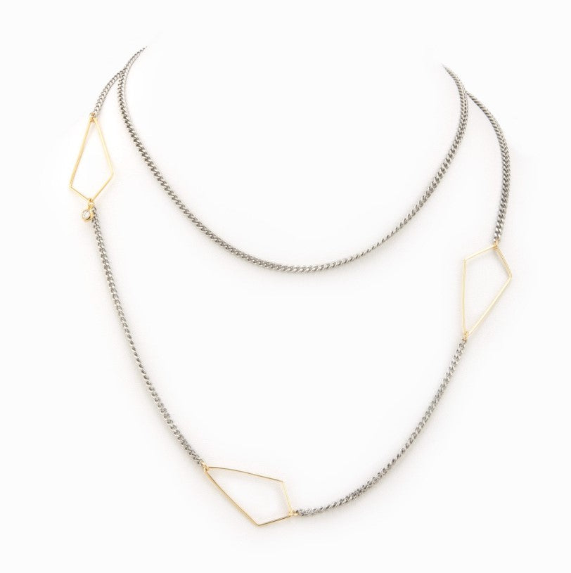 Silver Kite Chain Necklace