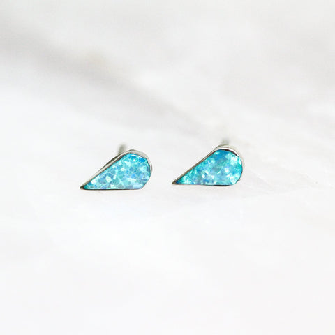 Jax Kelly Fire Opal Teardrop Studs