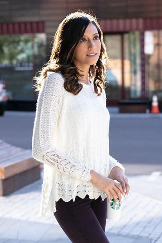 Grace & Lace Snowflake Sweater