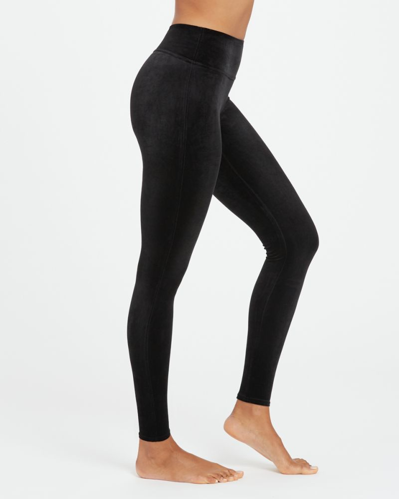 Spanx Velvet Leggings in Black