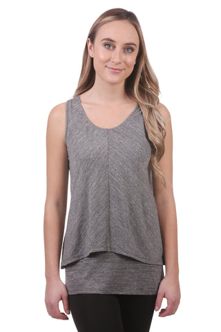 Vienne Slub Double Layer Tunic, Grey