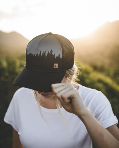 5 Panel Tree Juniper Altitude Hat by tentree, Meteorite Black