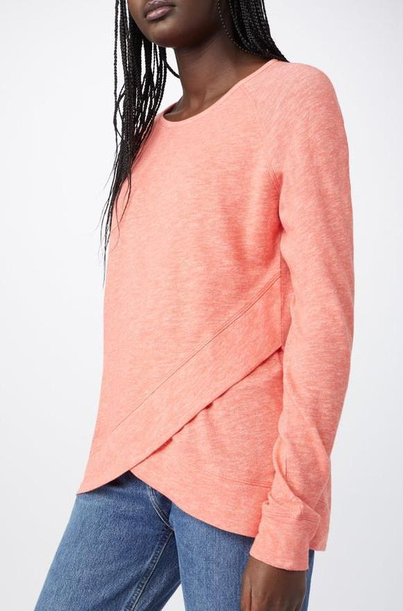 Acre Cross Front Top In Rose By Tentree