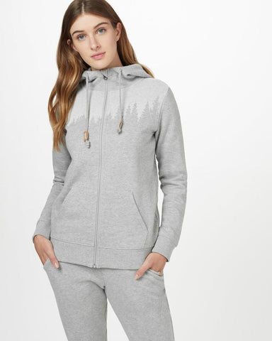 Juniper Zip Hoodie by tentree, Grey Heather